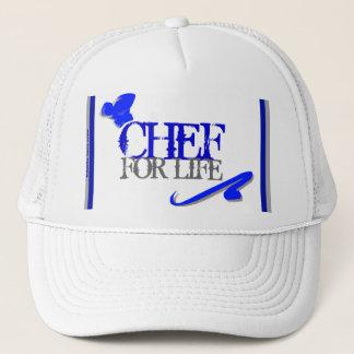 """""""Chef For Life"""" Mesh Ballcap Trucker Hat"""