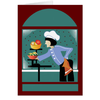 Chef French Blue Greeting Cards