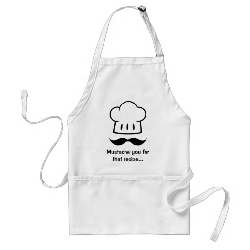 Chef Gift Mustache for Dad Cook Man Fun Moustache Apron