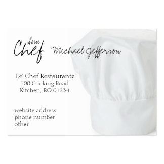 Chef Hat Business Cards Pack Of Chubby Business Cards