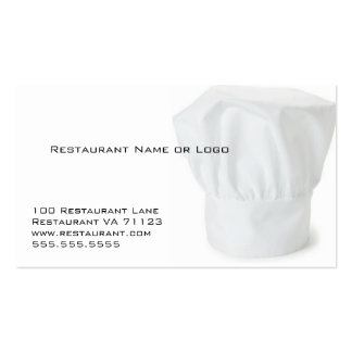 Chef Hat Restaurant Coupon Cards Business Cards