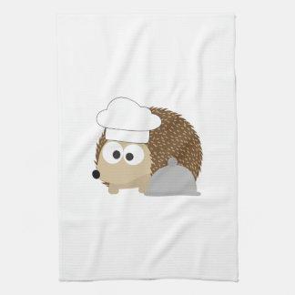 Chef Hedgehog Tea Towel