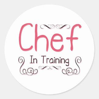 Chef in Training Round Sticker