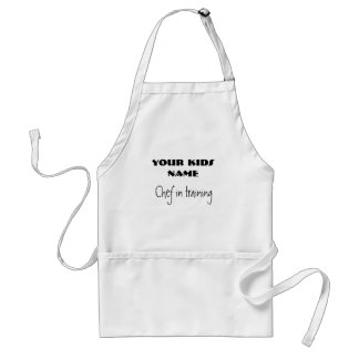 Chef in training, YOUR KIDS NAME Standard Apron