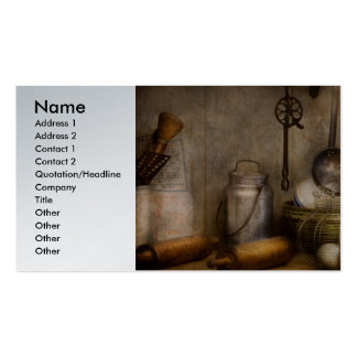 Chef - Ingredients - Breakfast and grandpa's Business Card Template