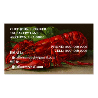 CHEF LOBSTER OVERNIGHT SHIPPING BUSINESS CARDS