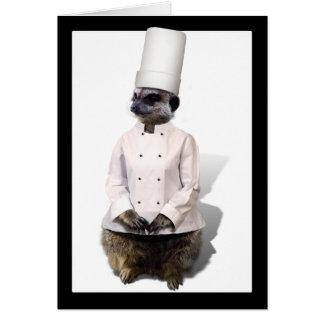 Chef Meerkat Card