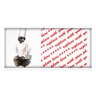 Chef Meerkat Picture Card