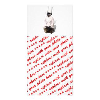 Chef Meerkat Custom Photo Card