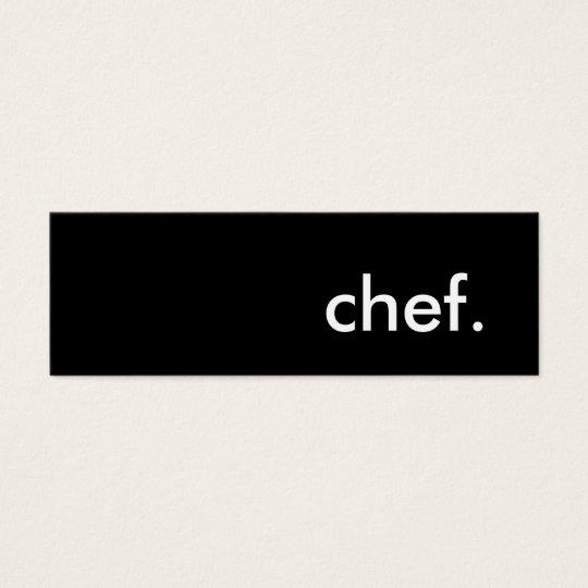 chef. mini business card
