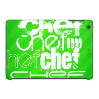 Chef; Neon Green Stripes iPad Mini Retina Case