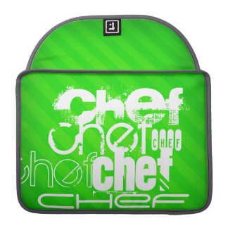 Chef; Neon Green Stripes Sleeve For MacBooks