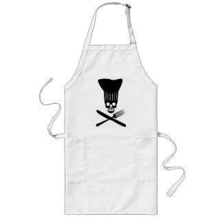 Chef of Death_BLK Long Apron