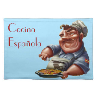 Chef of Spanish Kitchen with Paella - M1 Placemat