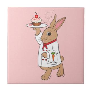 Chef O'Hare: Cherry Cheesecake Cupcake Ceramic Tiles