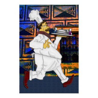 Chef on the run poster