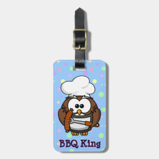 chef Owl Bag Tag