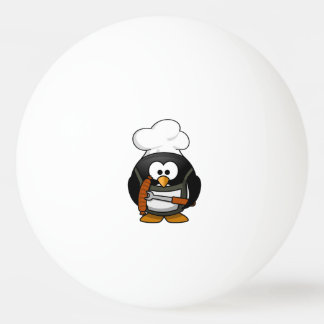 Chef Penguin Cartoon Ping Pong Ball