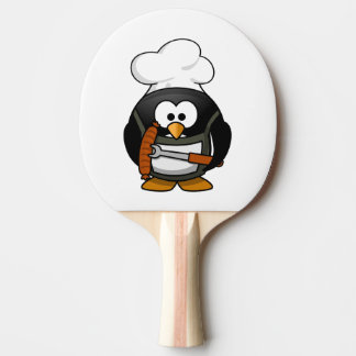 Chef Penguin Cartoon Ping Pong Paddle