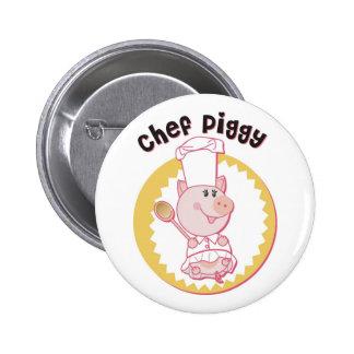 Chef_Piggy Pinback Buttons