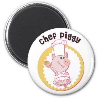 Chef_Piggy Refrigerator Magnet