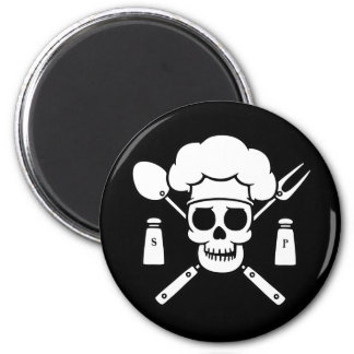 Chef Pirate 6 Cm Round Magnet