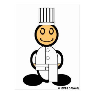 Chef (plain) postcard