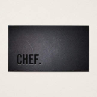 Chef Professional Dark Minimalist Business Card