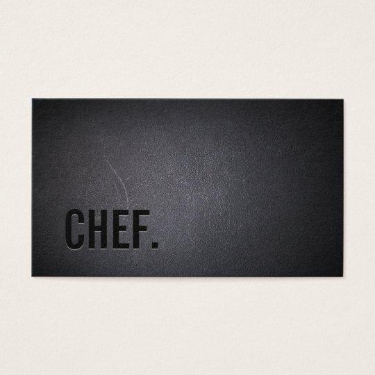 Chef Professional Dark Minimalist Business Card