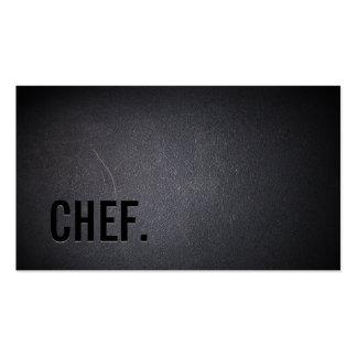 Chef Professional Dark Minimalist Pack Of Standard Business Cards