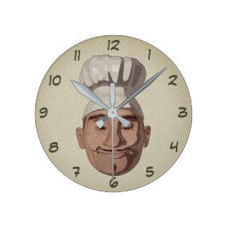 Chef Restaurant 3 Round Clock