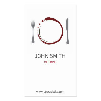 Chef Restaurant and Catering with Plate Business Cards