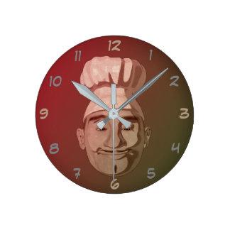 Chef Restaurant Round Clock