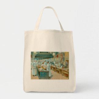 Chef Restaurant Vintage Food Ad Art Bag