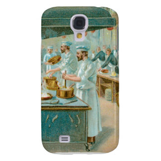 Chef Restaurant Vintage Food Ad Art Galaxy S4 Cases