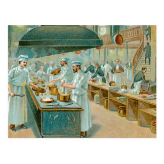 Chef Restaurant Vintage Food Ad Art Postcard