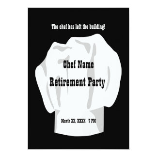 Chef Retirement Custom Invitation