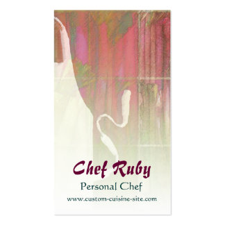 Chef Ruby Personal Chef Business Card