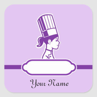 Chef s Personalized Large Labels Square Sticker