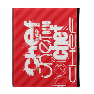 Chef; Scarlet Red Stripes iPad Case