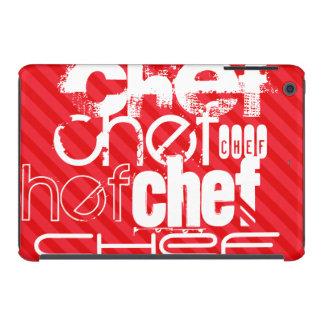 Chef; Scarlet Red Stripes iPad Mini Case