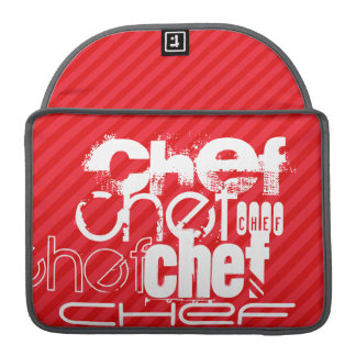 Chef; Scarlet Red Stripes Sleeves For MacBooks