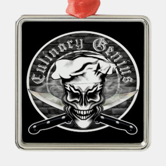 Chef Skull 1 Christmas Ornament