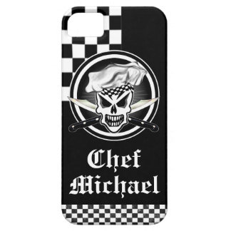 Chef Skull 2 and Crossed Chef Knives Barely There iPhone 5 Case