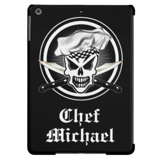 Chef Skull 2 and Crossed Chef Knives iPad Air Cover