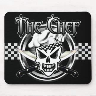 Chef Skull 2 and Crossed Chef Knives Mouse Pad