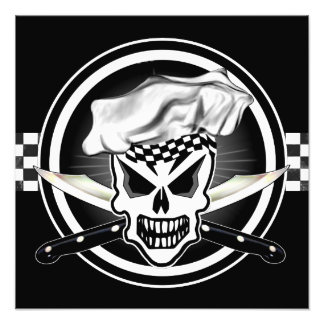 Chef Skull 2 and Crossed Chef Knives Photo Print