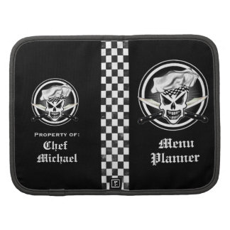 Chef Skull 2 and Crossed Chef Knives Folio Planner