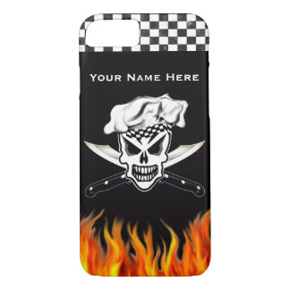 Chef Skull 2 and Crossed Knives iPhone 7 Case