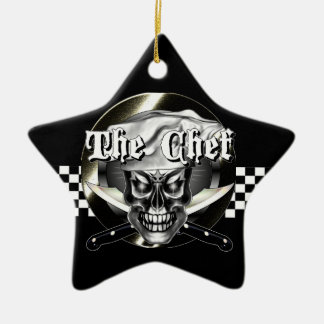 Chef Skull 3.1 Christmas Ornament